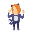 Cute cartoon kid in halloween costume vector image vector image