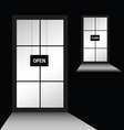 door with open close vector image