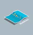 explore maldives maps with isometric style and vector image