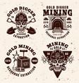 goldminer company industry set vintage emblems vector image vector image