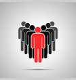 group people silhouette with red leader simple vector image