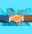 handshake concept happy partnership vector image