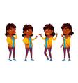 indian girl school kid set primary school vector image vector image
