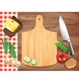 kitchen board background vector image vector image