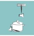 Kitchen design Supplies icon White background vector image vector image