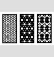 lazer cut panel cnc decor pattern jali vector image vector image
