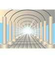 light in the end of tunnel vector image vector image