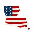 louisiana patriotic map graphic design vector image