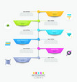 modern infographic design template with vertical vector image vector image
