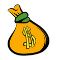 money bag with us dollar sign icon icon cartoon vector image vector image