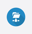 net folder Flat Blue Simple Icon with long shadow vector image vector image