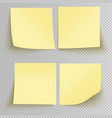 office sticky stickers vector image vector image