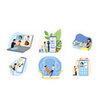 people using gadgets and mobile apps vector image