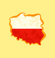 poland - map colored with polish flag vector image