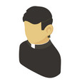 priest asian icon isometric 3d style vector image vector image