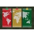 rastafari world map business cards set vector image vector image