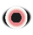 red eye halftone vector image vector image