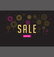 sale poster fireworks and celebration background vector image vector image