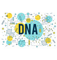 science bdna background research outline icon vector image vector image