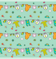 seamless pattern with cute baclothes vector image vector image