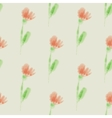 seamless pattern with watercolor flowers for vector image