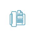 sending a fax linear icon concept sending a fax vector image