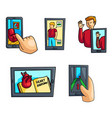 set modern augmented reality tool in everyday vector image vector image