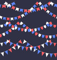 set of garland with celebration flags chain white vector image