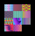 set of modern geometric background gradient vector image