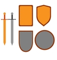 Set of signs shield and sword 3107 vector image vector image