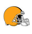 simple american football helmet on white vector image vector image
