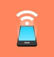 Smartphone signal concept Isometric design vector image