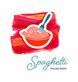 spaghetti italian pasta creative design vector image