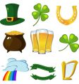 st patrick set vector image vector image