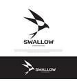 swallow logo icon design vector image vector image