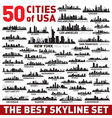 The Best city skyline silhouettes set