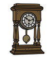 the retro desktop pendulum clock vector image vector image