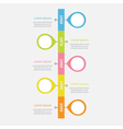 Timeline vertical Infographic with placemarks vector image