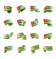 togo flag on a white vector image
