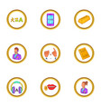 translate icons set cartoon style vector image vector image