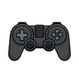 video game controller on white background gamepad vector image