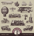Vintage means of transportation vector | Price: 3 Credits (USD $3)