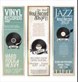 vinyl record shop retro grunge banner 6 vector image vector image