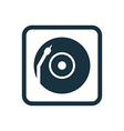 Vinyl turntable icon Rounded squares button vector image