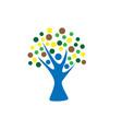 wellness tree logo icon design template vector image vector image