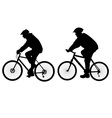 bicycle riders vs vector image