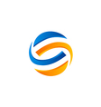 abstract S techno color logo vector image