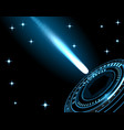 a bright comet a meteor a spaceship a rocket vector image vector image