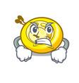 angry cd player mascot cartoon vector image vector image