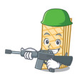 army waffle character cartoon style vector image
